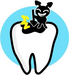 いったん虫歯により穴があいてしまうと、それ以上進行しないように虫歯の部分(茶色くなって柔らかくなったところ)を削って、プラスチックや金属の詰め物で治さないと